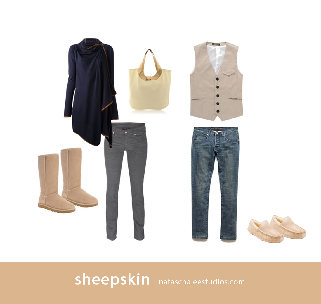 Sheepskin what to wear for winter portraits