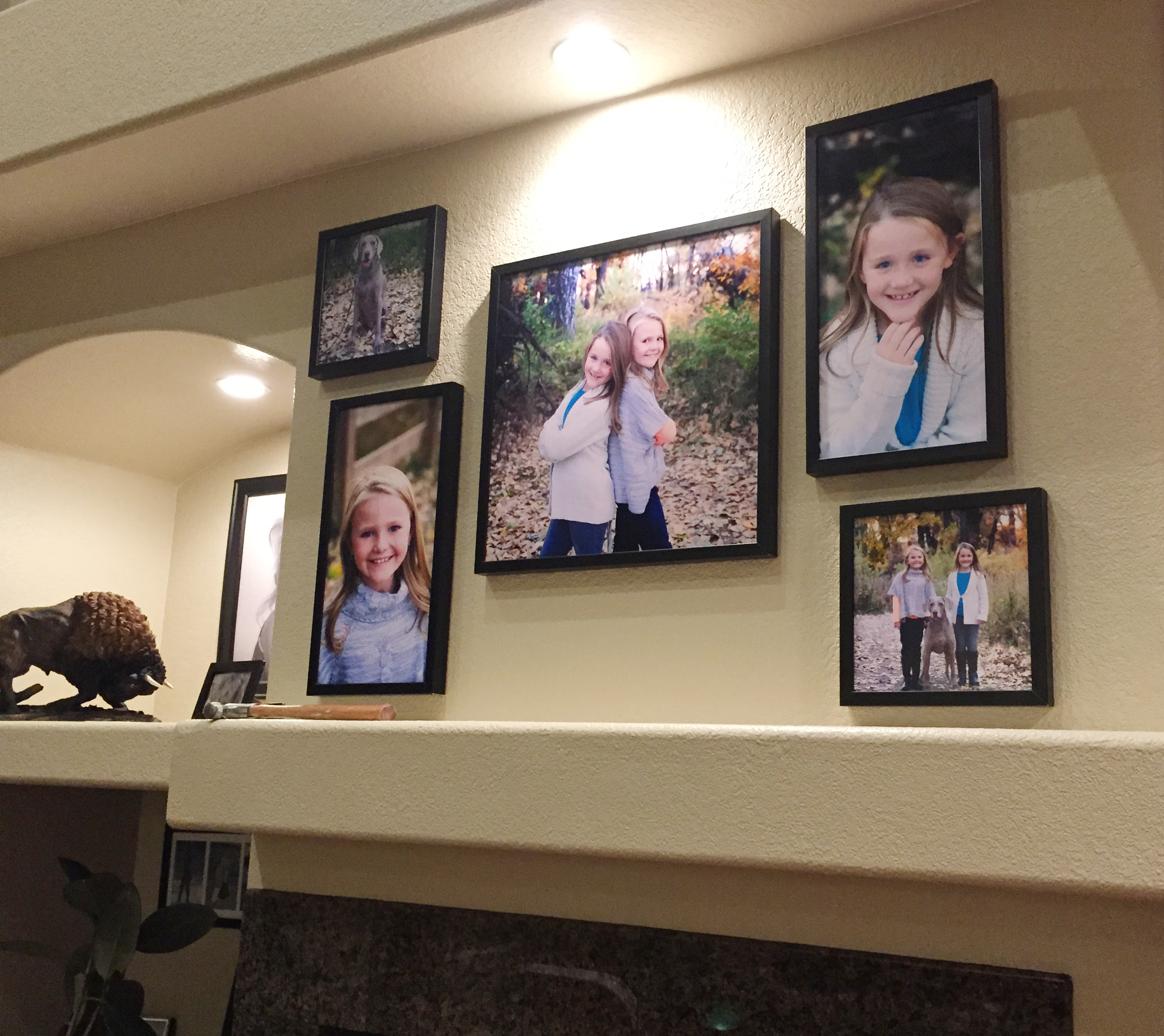 4 display ideas for family portraits