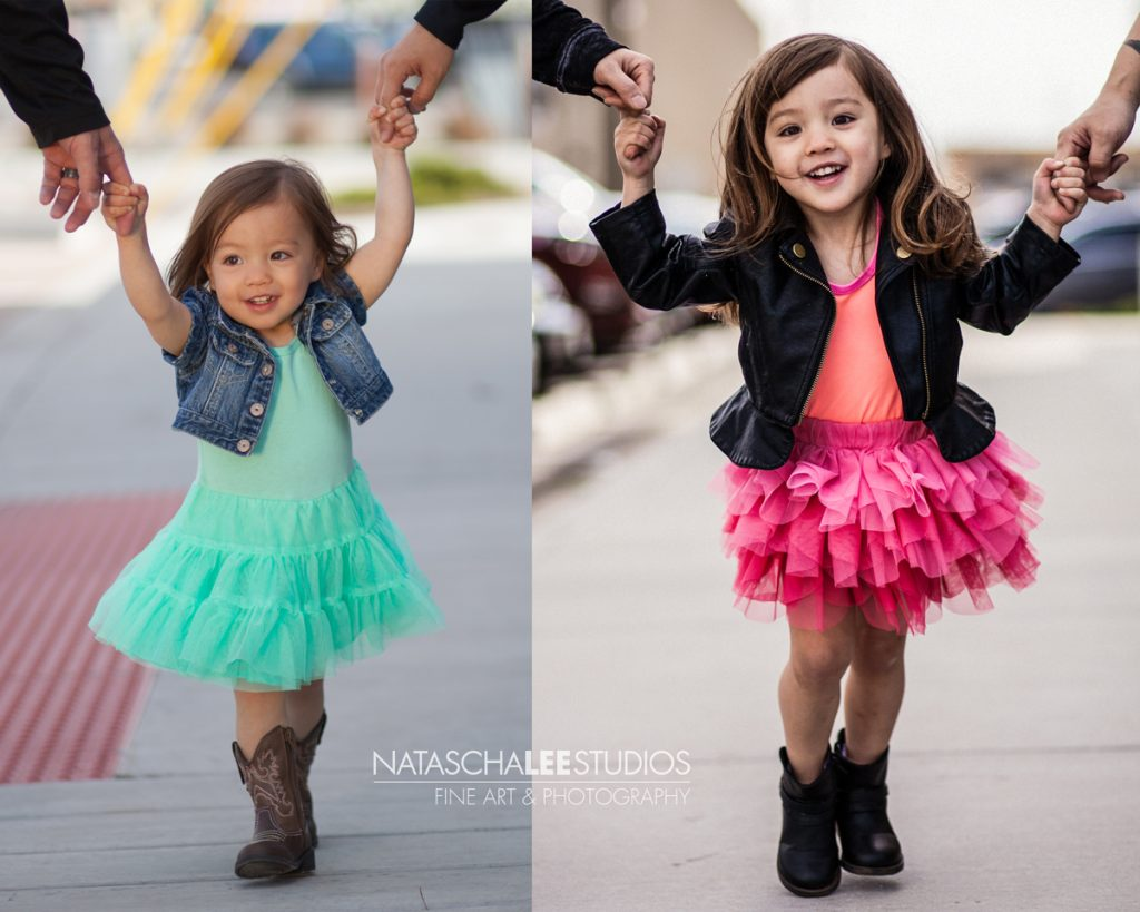 Denver Child Model with Tutu 1 year apart