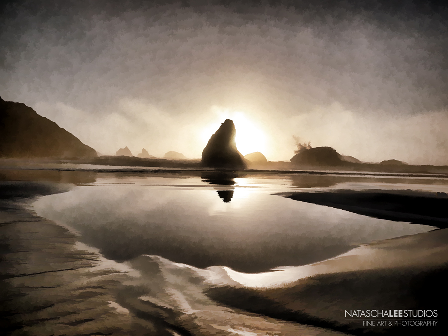 Bandon Oregon Sunset's Best Beach Towns by Natascha Lee Studios